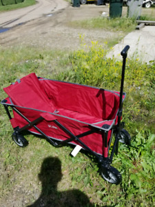 Fully collapsible outdoor cart