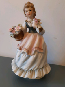 Music Box Ceramic Figurine