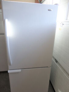 White Fridge with Freezer on the bottom in Good Condition