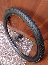 """Bike A complete Rear 27.5"""" disc wheel,8 speed quick release & new tyre"""