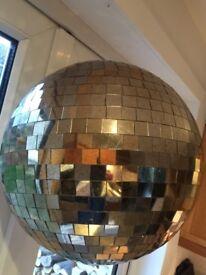 Large Bronzed Mirror Disco Ball/ Christmas Decoration
