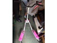 Girls pink slider scooter