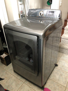 Samsung 7.4 Cu. Ft. Electric Steam Dryer DV52J8700EP/AC Platinum