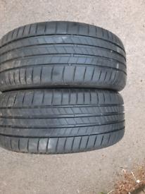 4x Bridgestone Turanza T005 235/45 R18 94w tires
