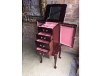 LARGE JEWELLERY CABINET BOX FREE DELIVERY
