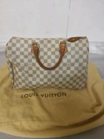1f1860012440 💯%Authentic Louis Vuitton Damier Azur speedy 35.handbags