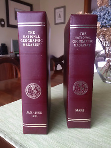 National Geographic Leather Bound Collectors edition 1983-1995