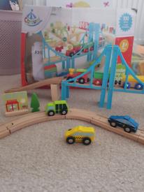 Carousel Wooden Train Set