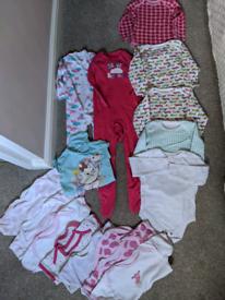 Huge girls bundle vests sleepsuits 18/24 months