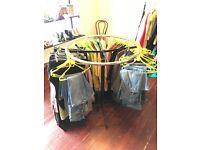 Round metal sturdy heavy metal shop display clothes rail / retail shop fitting