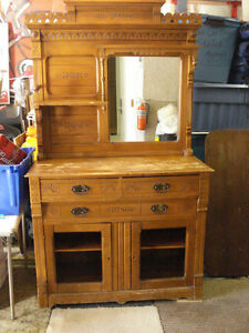100+ Year Old Antique China Cabinet