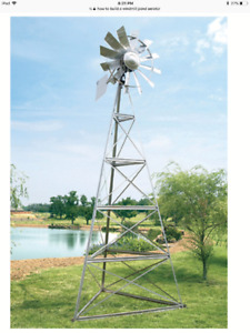 Pond windmill , aerator