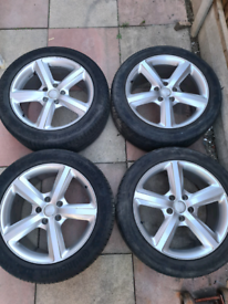 Audi q7 alloy wheels with tyres