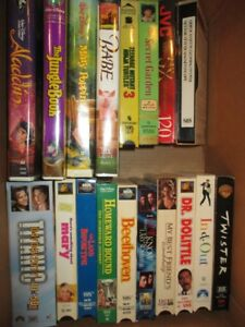 Lightly Used VCR Disney Movies Plus Others
