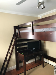 Loft Bed, dresser and desk