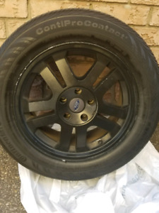 """All 4 17 """" Factory oem 05-09 mustang rims with tires"""