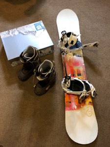 Rossignol woman's snowboard with Burton boots