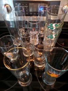12 beer glasses
