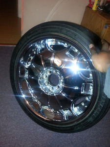 18in chrome wheels and tires