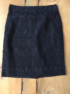 J. Crew black lace skirt