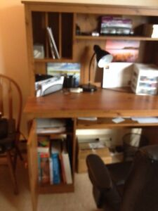 Wooden Desk with lots of storage Peterborough Peterborough Area image 2