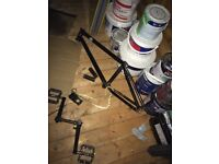 mafia bikes bmx frame, gold half link chain, fly stem, mafia cranks and alone pedals