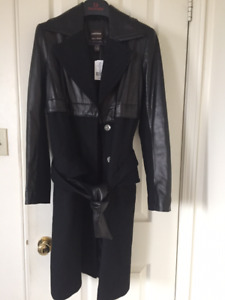 Danier Leather and Wool Coat