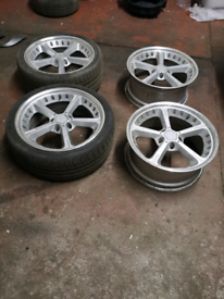 19 BMW SCHNITZER alloy wheels and 2 tyres 5×120
