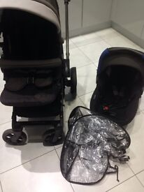 Jane twone double buggy and matrix light car seat