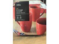 Red mugs 4 new