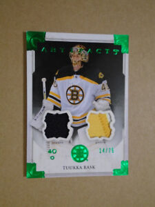 2013-14 UPPER DECK ARTIFACTS, TUUKKA RASK, HOCKEY CARD!!!