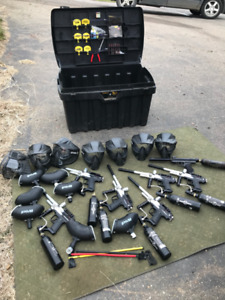 Complete paintball gear set
