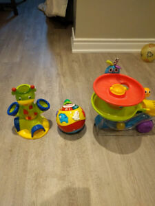 Playskool ball popper + Vtech wiggle&crawl ball + Bright start