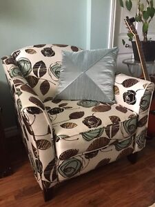 Two Armchairs & Ottoman Set ***LIKE NEW***