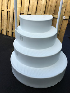 Wedding Cake Above Ground Pool Steps