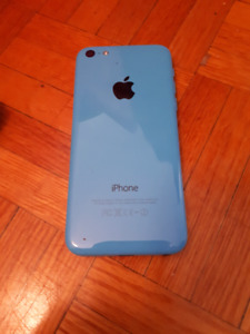Iphone 5c 16gb blue (tbaytel) with otterbox case