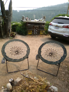 Trampoline chairs