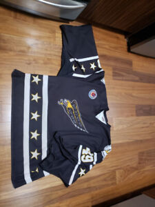 Goalie Jersey (Size 58) Black and Gold colored