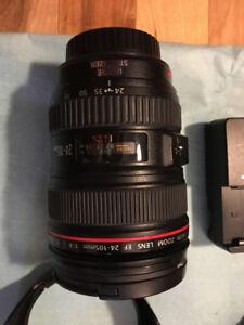 Canon EF 24-105mm f/4 L IS USM  avec Body 60D et accesoires