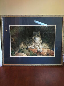 Large Framed Print of Wolves