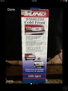 WINTER GRILL INSERT -- LUND STAINLESS COLD FRONT**LIKE NEW**