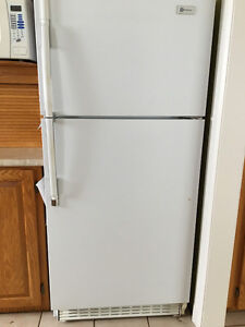 Fridge, stove and dishwasher. White.