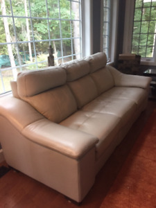 Custom Upper Room leather reclining couch and loveseat
