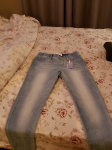 Brand  New Pair Of Women's Size Extra Small Pull-On Jeans