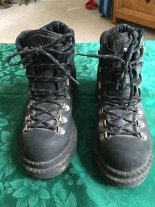 Steel toed work or hiking boots