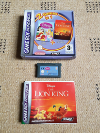 The Lion King & Disney Princess (Gameboy Advance) Boxed With Booklet.