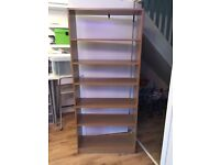 6 adjustable shelf unit