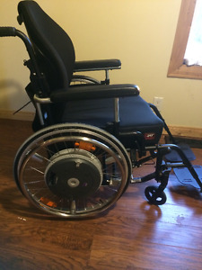Extra Wide Power Assist Wheelchair