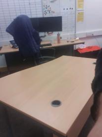 1400 mm beech office desks