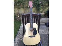 Hudson acoustic guitar vgc
